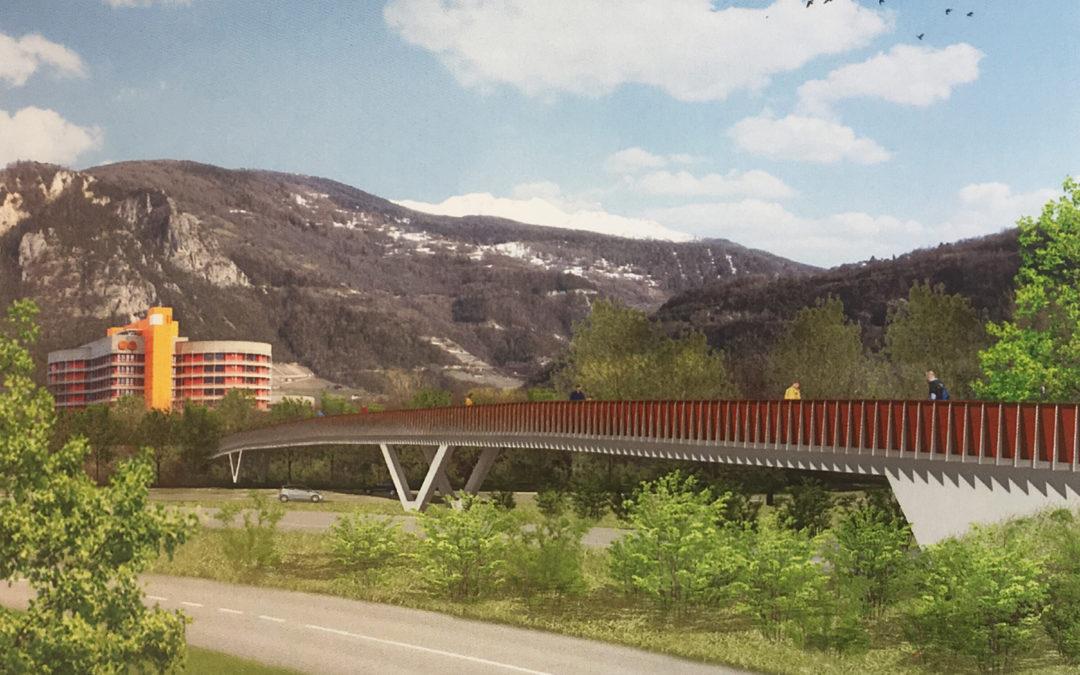 Passerelle über die Autobahn A9:  1. Rang für das Projekt «Polydesmida»